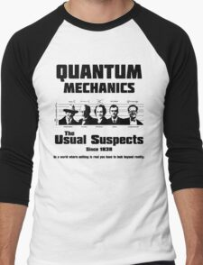 Quantum Mechanics - The Usual Suspects Men's Baseball ¾ T-Shirt