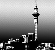 Auckland City at Night by KrossKiwi