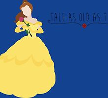 -Belle Tale as old as time by spiritofdisney