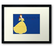 -Belle Tale as old as time Framed Print