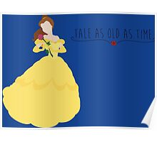 -Belle Tale as old as time Poster