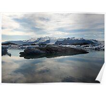 frozen lake - iceland Poster
