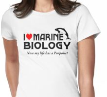 I Love Marine Biology Womens Fitted T-Shirt