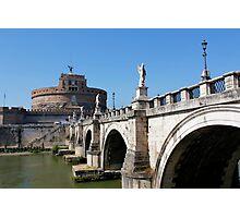 Saint Angelo Bridge Rome Photographic Print