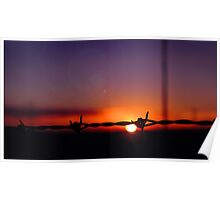 Sharp Sunset Poster