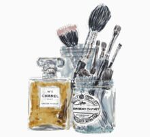 Perfume and Makeup Brushes by rosiestelling