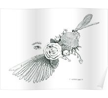 Dreams of Flight and Flowers Poster