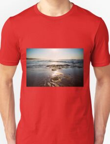 Waves On A Rocky Beach With Blue Skies Unisex T-Shirt