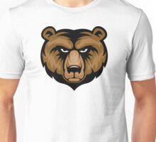 Bear Mascot Head Unisex T-Shirt