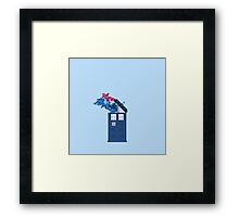 Colorful TARDIS Doctor Who Print Framed Print
