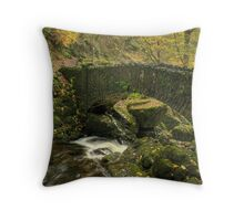The Lower Bridge At Aira Force Throw Pillow