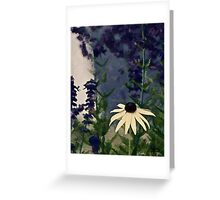 surronded by green and blue Greeting Card