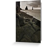 the legendary  trolls - Reynisdrangar Greeting Card