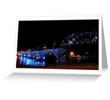 Blue Peace Bridge Greeting Card