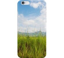 Grasslands and blue skies iPhone Case/Skin