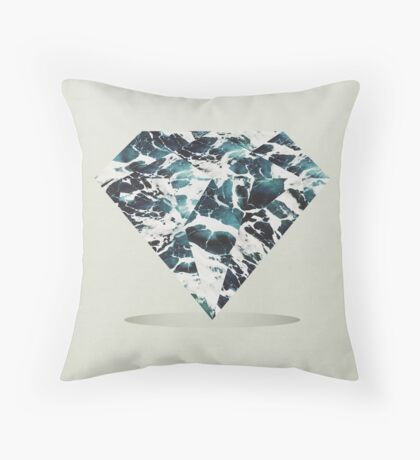 Marble Tide Throw Pillow