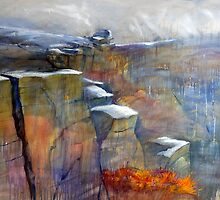 Snow Approaching Stanage by Sue Nichol
