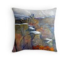 Snow Approaching Stanage Throw Pillow