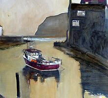 A Still Evening, Staithes, Yorkshire by Sue Nichol