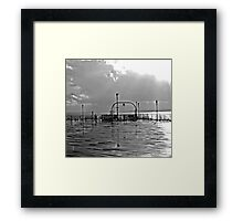 wet south coast pier 1  Framed Print