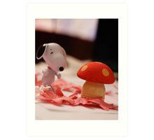 Mushroom for the penguins!!! Art Print