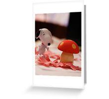 Mushroom for the penguins!!! Greeting Card