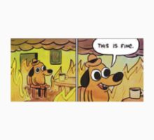 This is fine tumblr meme dog T-Shirt