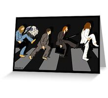 silly beatlewalk Greeting Card