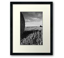 {Hay Bales in Bedfordshire} Framed Print
