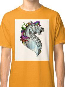 Ornate Color Horse Classic T-Shirt