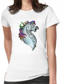 Ornate Color Horse Womens Fitted T-Shirt