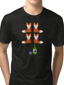 Four Fox Sake Tri-blend T-Shirt
