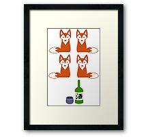 Four Fox Sake Framed Print