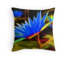 Lotus flowers fractalius Throw Pillow
