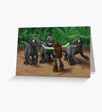How to Train Your Dinosaur Greeting Card