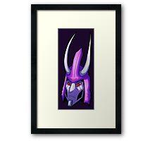 Twonicorn Head Framed Print