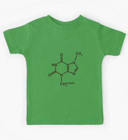 Theobromine Molecule - Chocolate Kids Tee