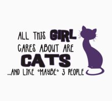 All this GIRL cares about are CATS ...and *maybe* like 3 people by Iceyuk