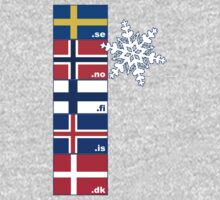 Nordic Cross Flags by Anny Arden