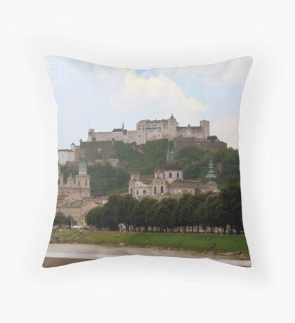 Hohensalzburg Castle, Salzburg Throw Pillow