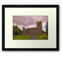 St Edmunds Church Walesby, notts. (The other side) Framed Print