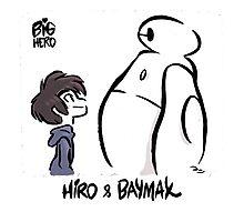hero & bay max Photographic Print