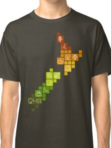 New Zealand Fun Map Classic T-Shirt