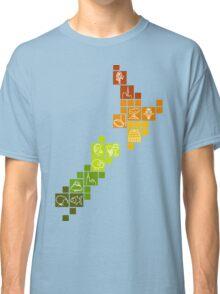 New Zealand Fun Map Classic T-Shirt