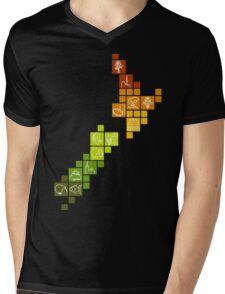 New Zealand Fun Map Mens V-Neck T-Shirt