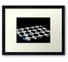 Light on the floor Framed Print