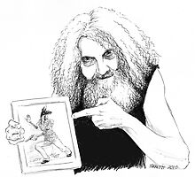 Alan Moore and Friend by Stephanie Smith