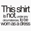Not a dress by Amy Rawlings