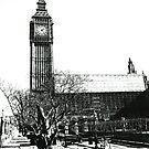 London Big Ben in Black and White by DavidGutierrez