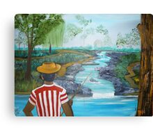 What a Wonderful day for Fishing Canvas Print